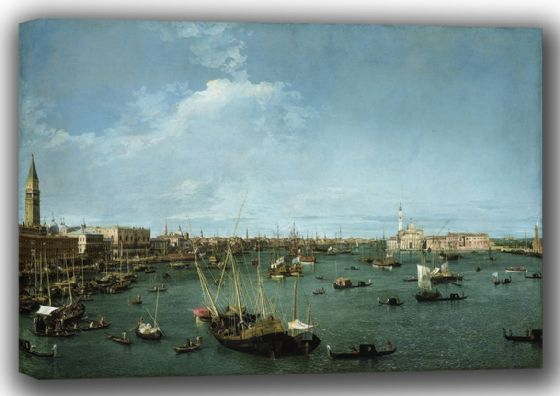 Canaletto, Giovanni Antonio Canal: Bacino di San Marco, Venice. Fine Art Canvas. Sizes: A4/A3/A2/A1 (003528)